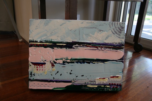 (CreativeWork) Ocean Breeze II by Hilly Coufreur. Acrylic Paint. Shop online at Bluethumb.