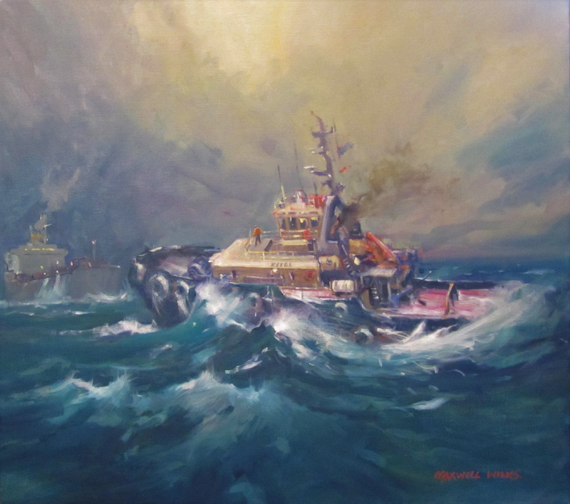 (CreativeWork) Keera In A Heavy Sea by Maxwell Wilks. Oil Paint. Shop online at Bluethumb.