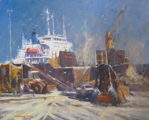 (CreativeWork) Loading Coal by Maxwell Wilks. Oil Paint. Shop online at Bluethumb.