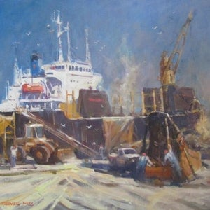 (CreativeWork) Loading Coal by Maxwell Wilks. oil-painting. Shop online at Bluethumb.