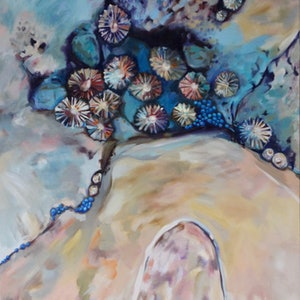 (CreativeWork) A Coastal Constellation by Jackie Moss. oil-painting. Shop online at Bluethumb.
