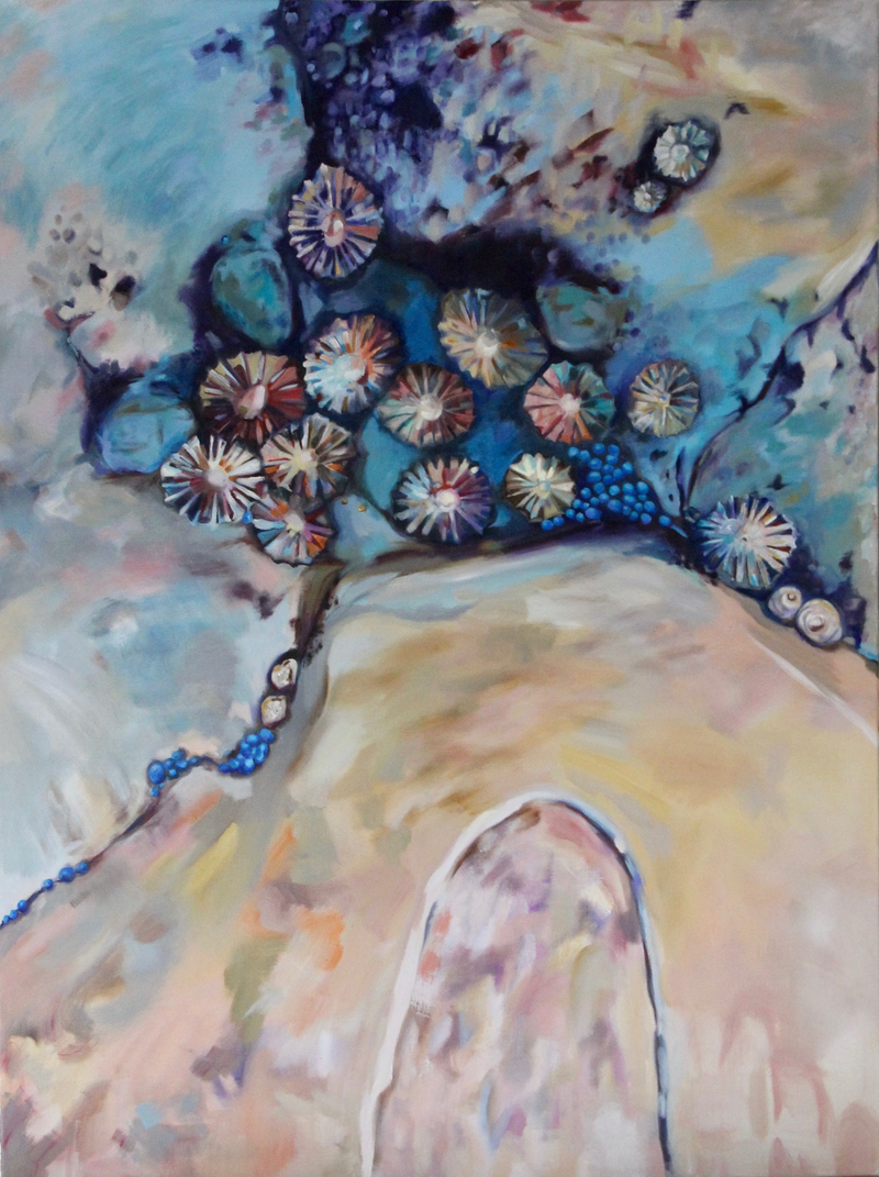 (CreativeWork) A Coastal Constellation by Jackie Moss. Oil Paint. Shop online at Bluethumb.