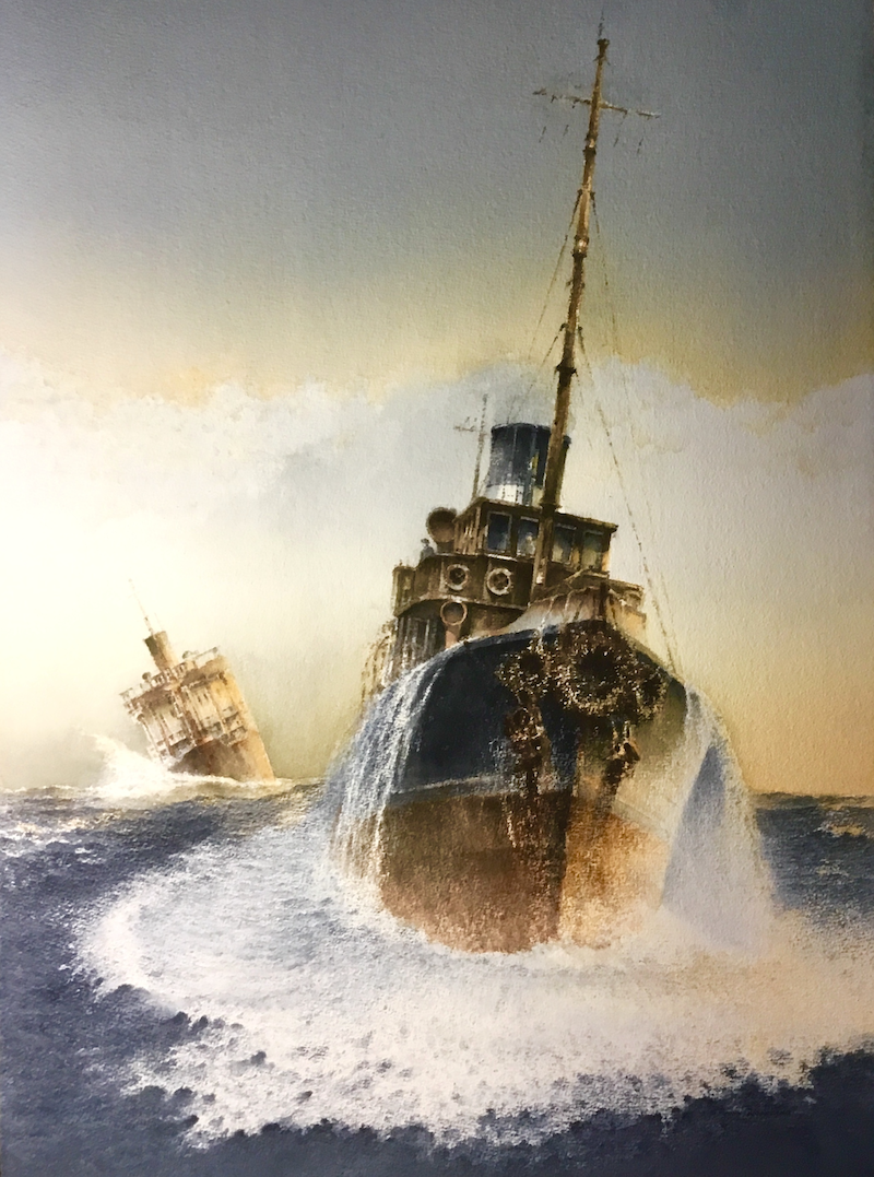 (CreativeWork) Their Finest Hour by John Woodland. watercolour. Shop online at Bluethumb.