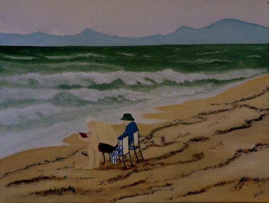 (CreativeWork) The Old Men and The Sea by Doodie Herman. Acrylic Paint. Shop online at Bluethumb.