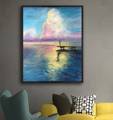 (CreativeWork) My thoughts and the sea. by Phil Herbison. Drawings. Shop online at Bluethumb.