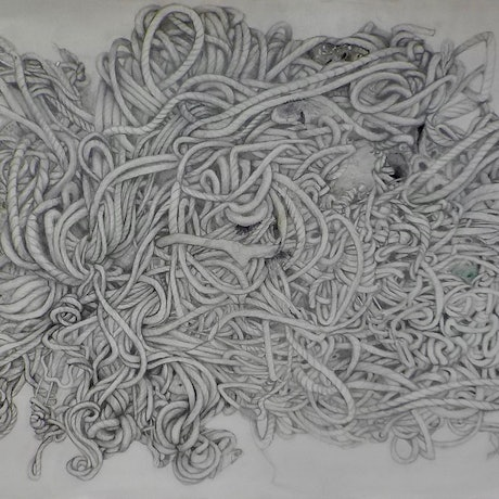 (CreativeWork) Entanglement by Bridgit Thomas. Drawings. Shop online at Bluethumb.