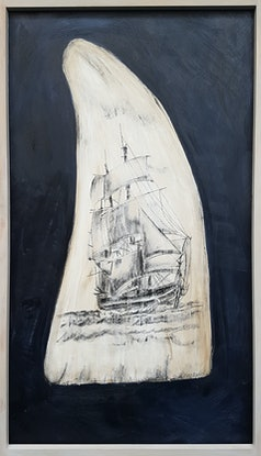 (CreativeWork) Scrimshaw I by Laurie Franklin. Mixed Media. Shop online at Bluethumb.