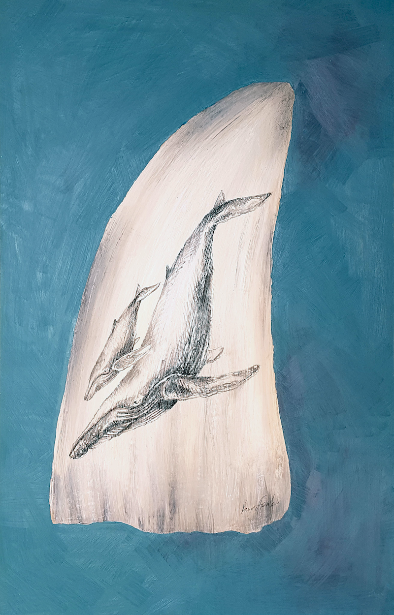 (CreativeWork) Scrimshaw IV by Laurie Franklin. Oil Paint. Shop online at Bluethumb.