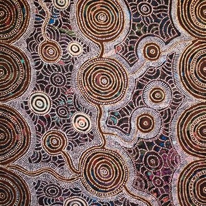 (CreativeWork) Rockholes & Spinifex (18-138) by Ethel (Narelle) Holland. acrylic-painting. Shop online at Bluethumb.
