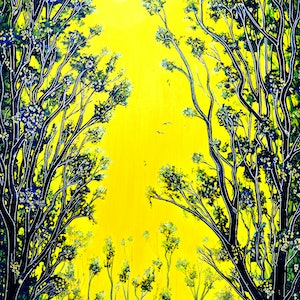 (CreativeWork) Endless Forest by Linda Callaghan. mixed-media. Shop online at Bluethumb.