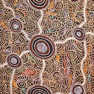 (CreativeWork) Rockholes & Spinifex (18-124) by Ethel (Narelle) Holland. Acrylic Paint. Shop online at Bluethumb.