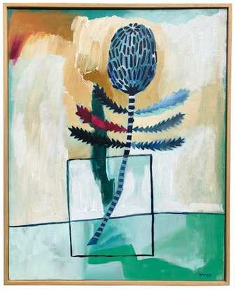 (CreativeWork) Ashby's Banksia by Sally Browne. Acrylic Paint. Shop online at Bluethumb.