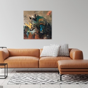 (CreativeWork) Rhino White Magic by Marion Parker. arcylic-painting. Shop online at Bluethumb.