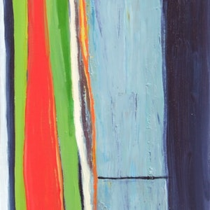 (CreativeWork) Untitled (vertical abstraction) by Frank Burgers. oil-painting. Shop online at Bluethumb.