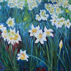 (CreativeWork) HUMBUG SCRUB GARDEN by Maureen Finck. oil-painting. Shop online at Bluethumb.