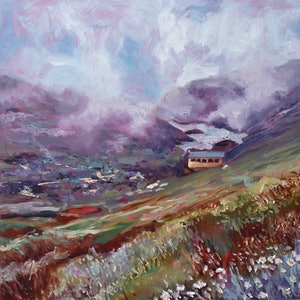 (CreativeWork) Albina, Snowy Mountains, Kosciuszko by fiona smith. oil-painting. Shop online at Bluethumb.