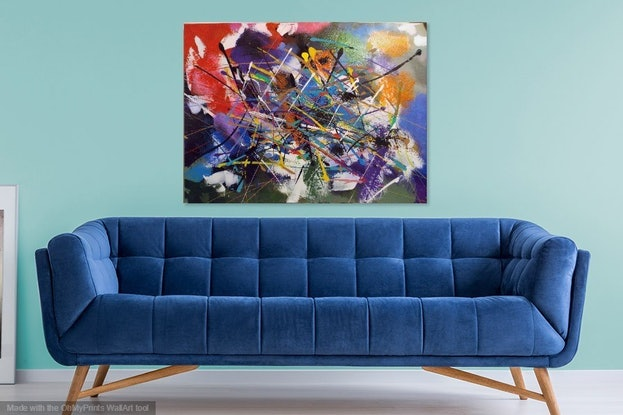 (CreativeWork) ELATION by Thomas Robson. Acrylic Paint. Shop online at Bluethumb.