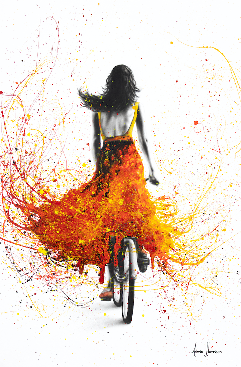 (CreativeWork) Finding Flames by Ashvin Harrison. arcylic-painting. Shop online at Bluethumb.