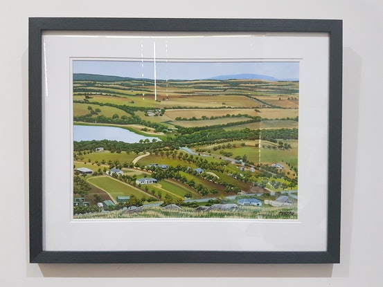 (CreativeWork) Winter Hill View by Mady Lewis. Acrylic. Shop online at Bluethumb.
