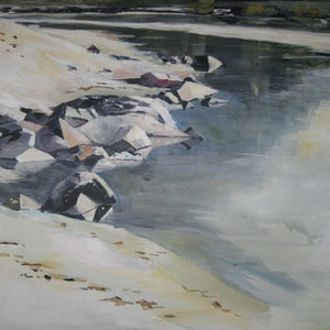 (CreativeWork) STUMERS  CREEK by Paul Harbour. arcylic-painting. Shop online at Bluethumb.