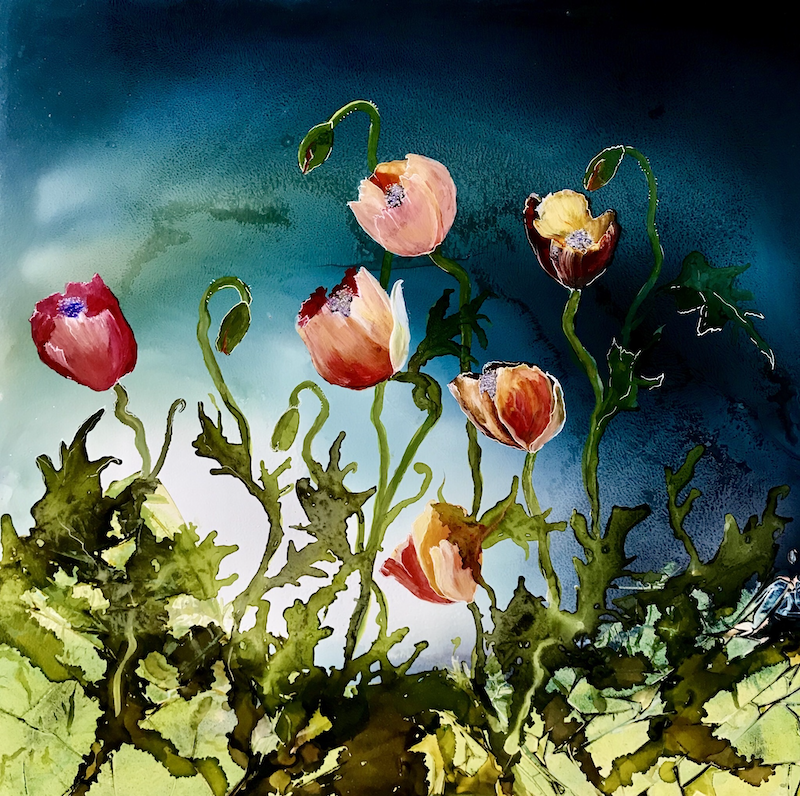 (CreativeWork) Poppy Nights.  by Meg Lewer. other-media. Shop online at Bluethumb.