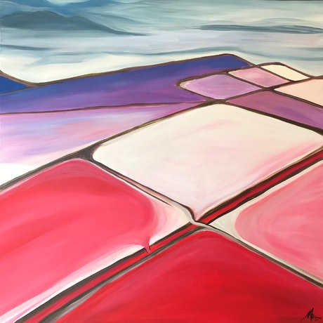 (CreativeWork) Salt Flats, Dampier to Karratha WA 2 - The Salt Series by Maggie Deall. Acrylic Paint. Shop online at Bluethumb.