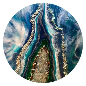 (CreativeWork) The River Divides. by Gayle Reichelt. resin. Shop online at Bluethumb.