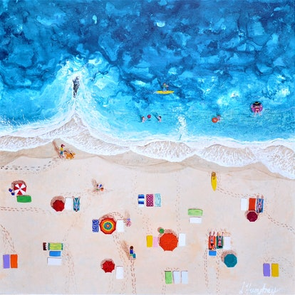(CreativeWork) Summer Time by Lisa Humphrey. Acrylic Paint. Shop online at Bluethumb.