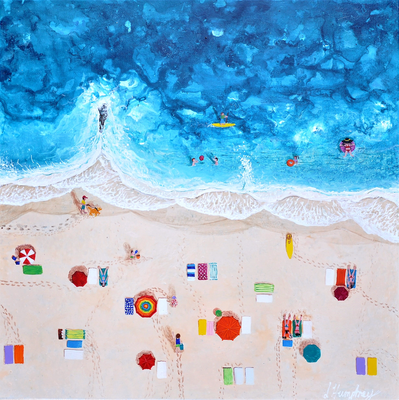 (CreativeWork) Summer Time by Lisa Humphrey. arcylic-painting. Shop online at Bluethumb.