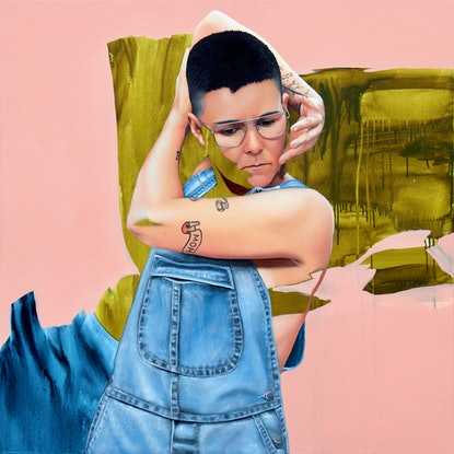 (CreativeWork) Cole by Kim Leutwyler. Oil Paint. Shop online at Bluethumb.