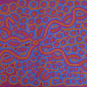 (CreativeWork) Ngalyipi Jukurrpa Bush Vine Dreaming  by Biddy Jurrah/Long. arcylic-painting. Shop online at Bluethumb.