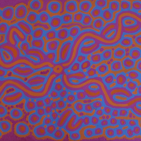 (CreativeWork) Ngalyipi Jukurrpa Bush Vine Dreaming  by Biddy Jurrah/Long. Acrylic Paint. Shop online at Bluethumb.