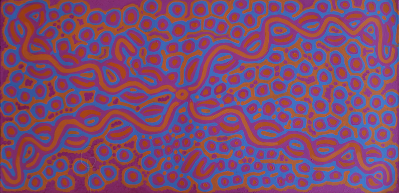 (CreativeWork) Ngalyipi Jukurrpa Bush Vine Dreaming  by Biddy Jurrah/Long. acrylic-painting. Shop online at Bluethumb.