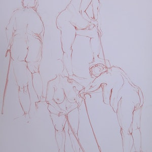 (CreativeWork) Life Drawing | Figure Drawing #8 by Claudia Husband. drawing. Shop online at Bluethumb.