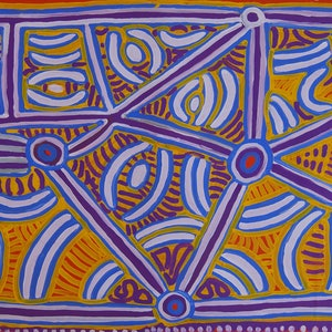 (CreativeWork) Seed Dreaming by Molly Napurrurla Tasman. Acrylic Paint. Shop online at Bluethumb.