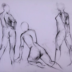 (CreativeWork) Life Drawing | Figure Drawing #28 by Claudia Husband. drawing. Shop online at Bluethumb.