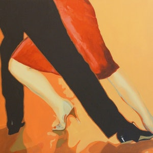 (CreativeWork) TWO TO TANGO by Sandra Michele Knight. oil-painting. Shop online at Bluethumb.