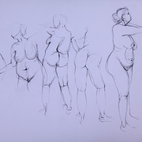 (CreativeWork) Life Drawing | Figure Drawing #50 by Claudia Husband. Drawings. Shop online at Bluethumb.