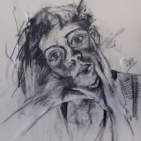 (CreativeWork) Self Portrait #14 by Claudia Husband. Drawings. Shop online at Bluethumb.