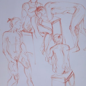 (CreativeWork) Life Drawing | Figure Drawing #63 by Claudia Husband. drawing. Shop online at Bluethumb.