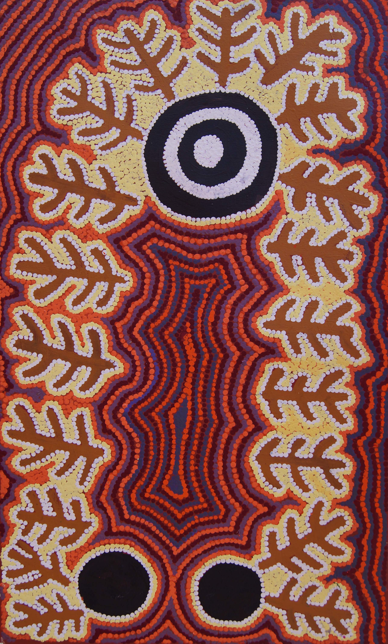 (CreativeWork) Yumurrpa by Henry Jakamarra Cook. arcylic-painting. Shop online at Bluethumb.