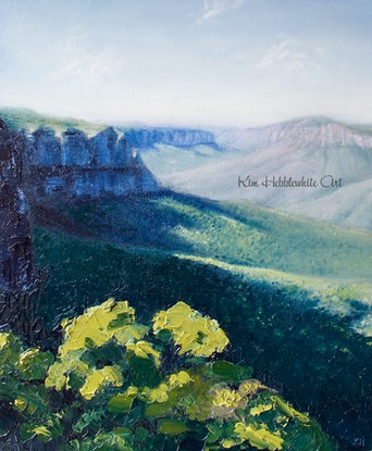 (CreativeWork) The Lookout by Kim Hebblewhite. Oil Paint. Shop online at Bluethumb.