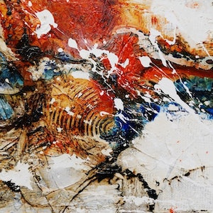 (CreativeWork) Outback Reach  160cm x 100cm  Huge White Orange Rustic Texture Acrylic Gloss Finish Abstract Painting by _Franko _. arcylic-painting. Shop online at Bluethumb.