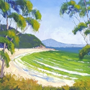 (CreativeWork) Noosa National Park Views by Rod Moore. oil-painting. Shop online at Bluethumb.