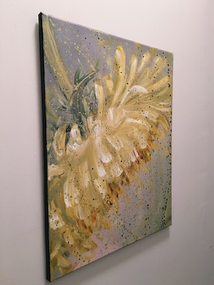 (CreativeWork) SOFTEST HEART STRONGEST LOVE - Spring Dandelion by HSIN LIN. Acrylic Paint. Shop online at Bluethumb.
