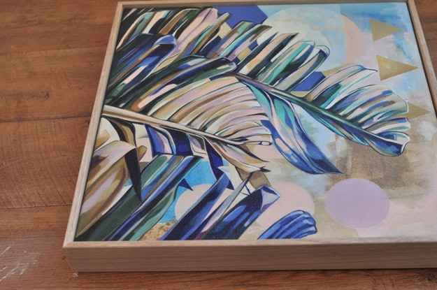 (CreativeWork) Dreamy Leaves by Tamara Armstrong. Acrylic Paint. Shop online at Bluethumb.