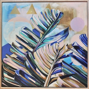 (CreativeWork) Dreamy Leaves by Tamara Armstrong. arcylic-painting. Shop online at Bluethumb.