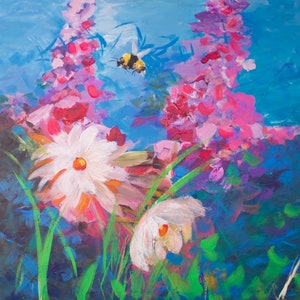 (CreativeWork) Flora's Secret by Tania Chanter. arcylic-painting. Shop online at Bluethumb.