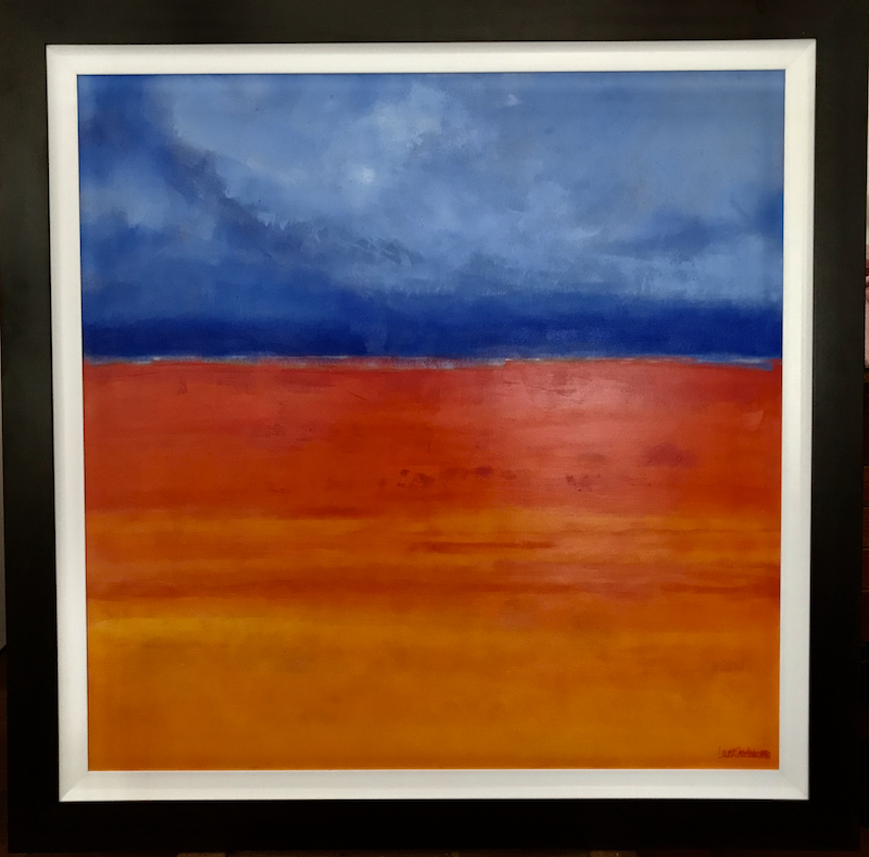 (CreativeWork) SANGUINE  by LOUISE GROVE WIECHERS. acrylic-painting. Shop online at Bluethumb.