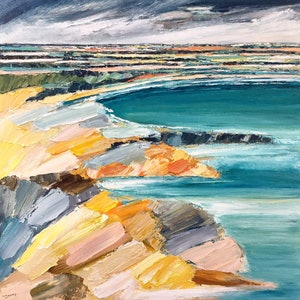 (CreativeWork) Peninsula by Katie Wyatt. arcylic-painting. Shop online at Bluethumb.